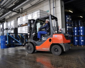 Explosion proof forklifts for ADPO's chemical warehouses