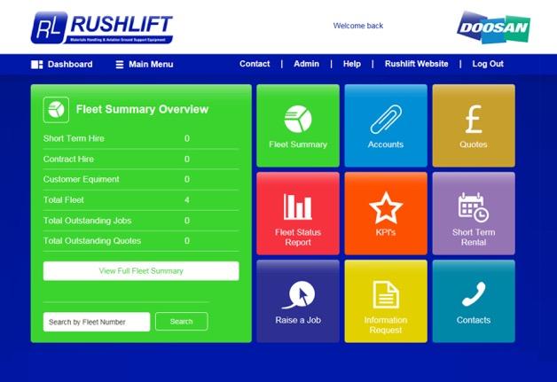 Doosan Rushlift Fleet Management System