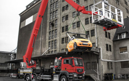 Palfinger Crane mode for Jumbo class NX access platforms