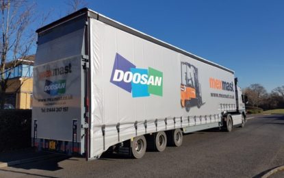 Doosan delivered by Andover Trailers