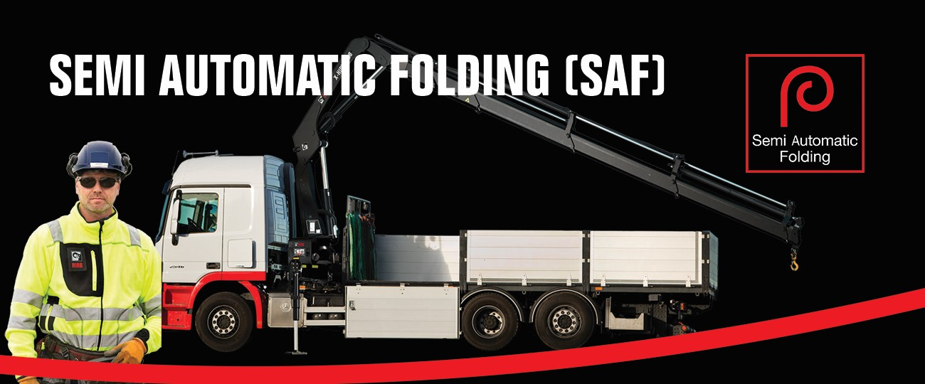 Fast and easy crane folding with Hiab's new semi-automatic folding (SAF)
