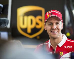 UPS Integrad Welcomed Scuderia Ferrari Driver Sebastian Vettel