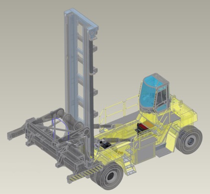 NEW! 48-tonne capacity Hyster container handling truck