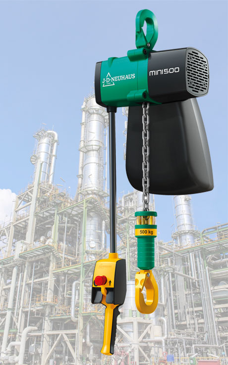 J D Neuhaus to Showcase new Mini Air Hoist at CeMAT 2018