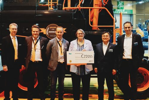 Fondation BTP PLUS Receives €10k from Doosan