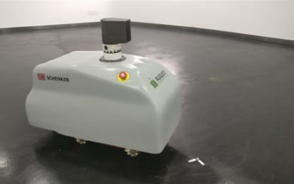 Introducing Lionel – Revolutionary floor marking robot from DB Schenker & August Robotics