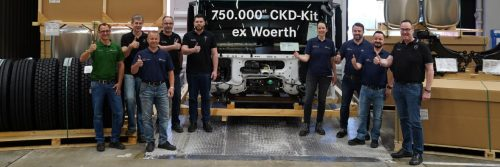 750,000th truck assembly kit leaves Mercedes-Benz Wörth plant