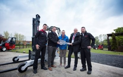Hiab delivers truck mounted forklift number 75,000