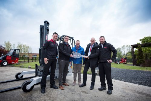 Hiab  delivers 75,000 Moffett truck mounted forklift