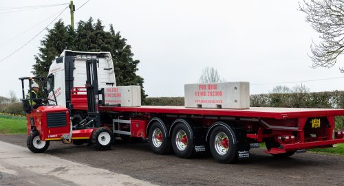 Another Paneltex Martrans specialist block trailer for Block Aid with Moffatt M8