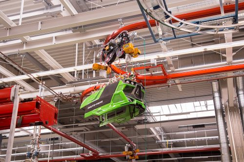 Europe's most modern tractor plant includes ERIKKILA light crane systems and electric chain hoists from KITO