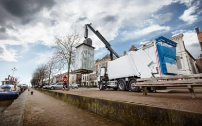 Hiab's new crane for underground waste collection containers