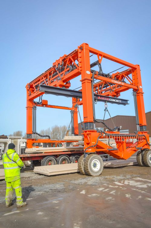 Heavy lifting no problem with Combilift at Moore Concrete