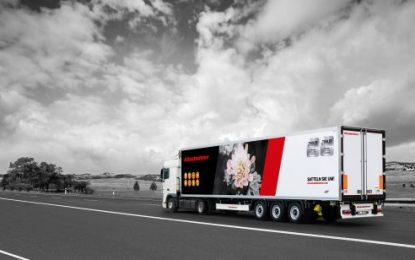Delicate but Strong Flower Carrier trailer from Kässbohrer