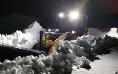 CASE wheel loaders battle the snow in the Arctic Circle
