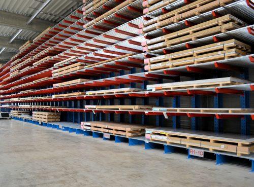 Ronge Profil: Cantilever racking for sheet metal storage
