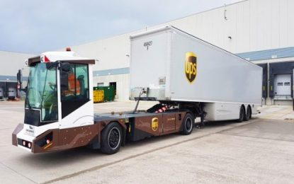 UPS evaluating Gaussin electric shunters for on-property trailer movements