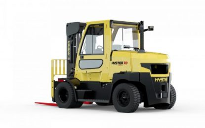 New Space-saving Hyster Fortens for 7 & 8 Tonne Lifts