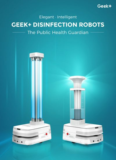 Geek+ Releases Two Disinfection Robots to Customers Worldwide
