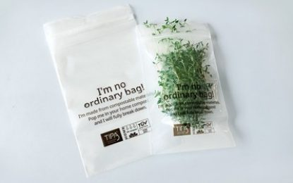 Abel & Cole adds to its sustainability credentials with home compostable bags supplied by TIPA.