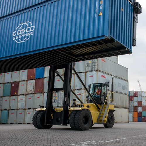 Hyster's Container Handler provides double-handling capability