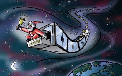 Santa gets packing!