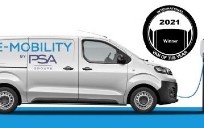 30th International Van of the Year 2021 crown awarded to Groupe PSA Electric LCVs