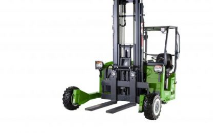 MOFFETT E4 NX – world's first all electric 3-wheel drive truck mounted forklift launched