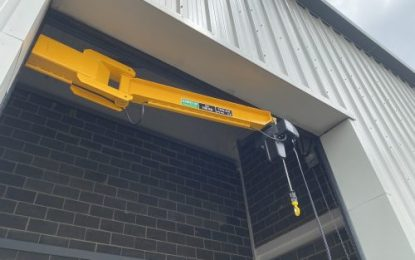 Hoist UK designed and manufactured the jib crane for eCommerce company