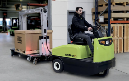 Clark launches a tugger train system for efficient production logistics – Flexible Trolley Transport