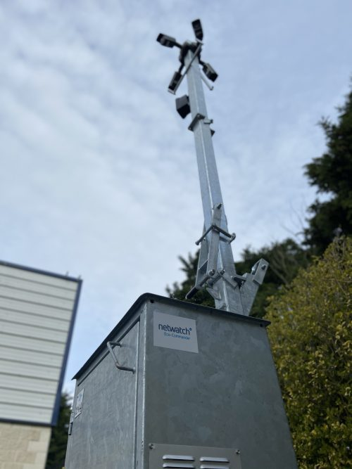 Netwatch's innovative eco-friendly mobile security unit for locations where power is a challenge