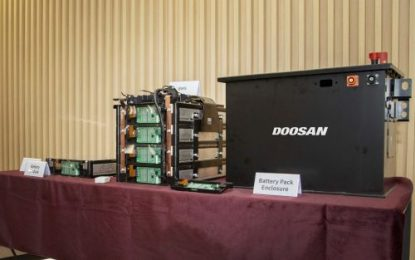 Doosan Infracore to Accelerate Battery Pack Business