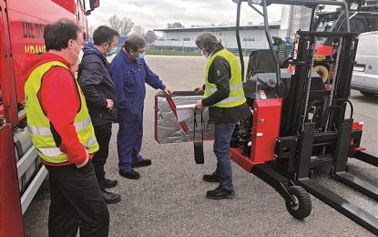 Noise reduction on Palfinger Truck Mounted Forklifts due to new Silent Pack